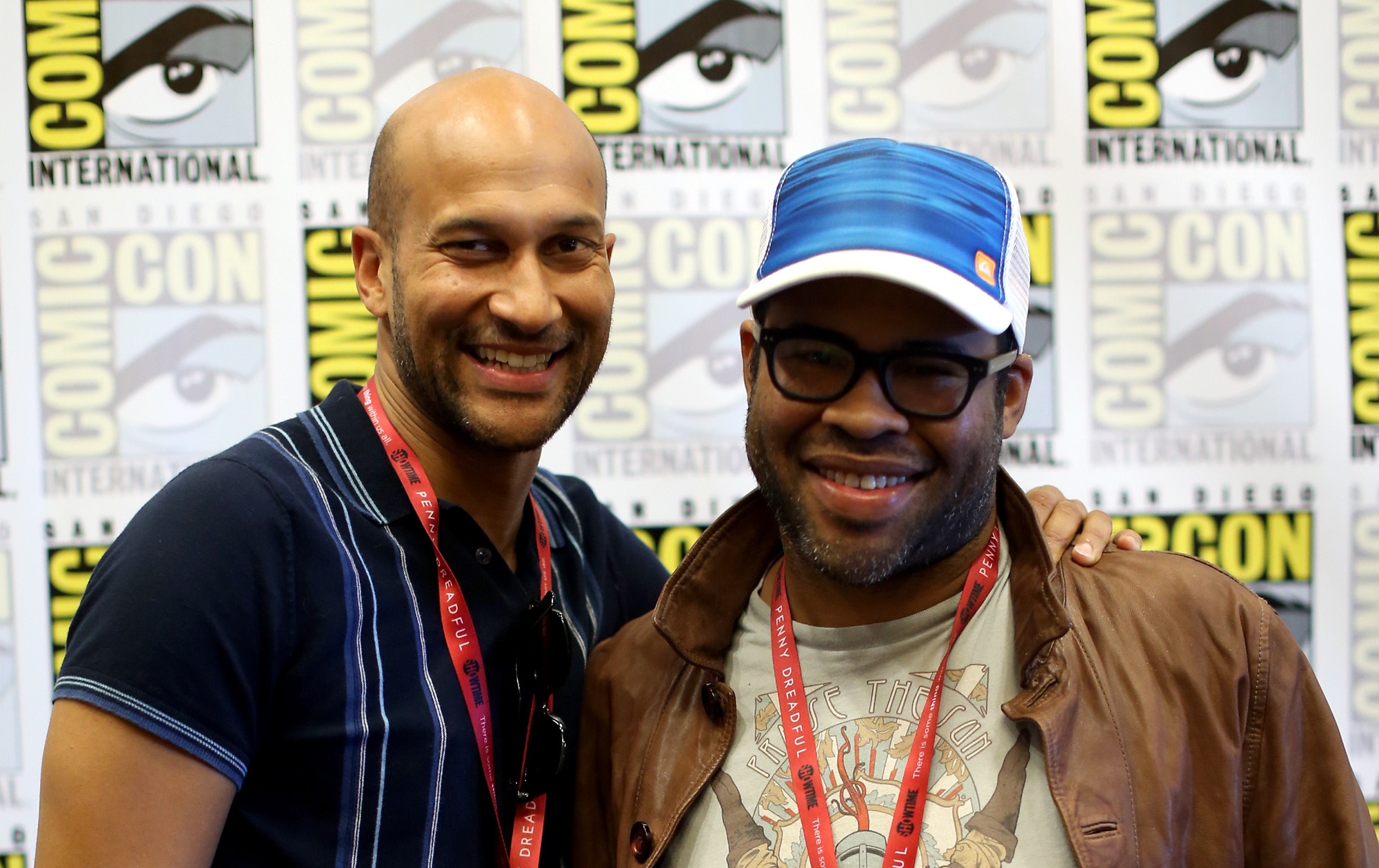 "SAN DIEGO, CA - JULY 24:  Actors Keegan-Michael Key (L) and Jordan Peele attend Comedy Central's ""Key And Peele"" press line during Comic-Con International 2014 at Hilton Bayfront on July 24, 2014 in San Diego, California.  (Photo by Mark Davis/Getty Images)"